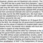 Image for the Tweet beginning: Stephen Hawking's last fight was