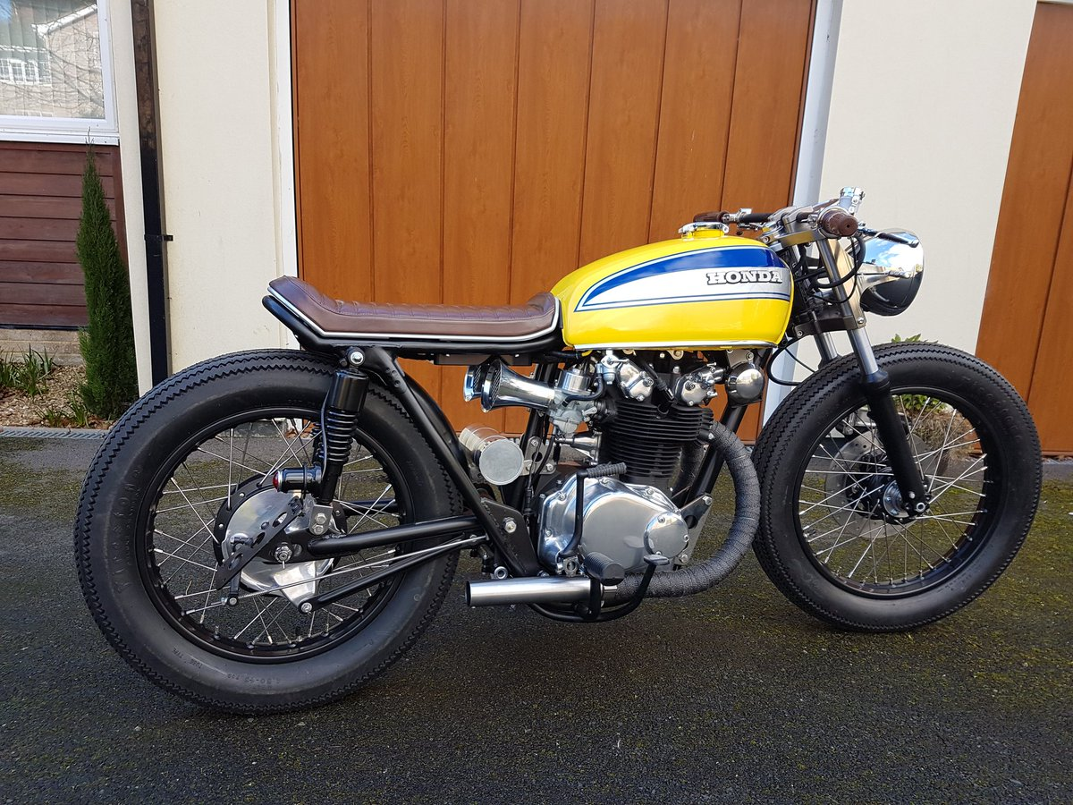 Kevin On Twitter My Finished Nastro Azzurro Rossi Inspired Honda CB450 Brat Style Bike Is Heading To London Shed So Proud And Excited