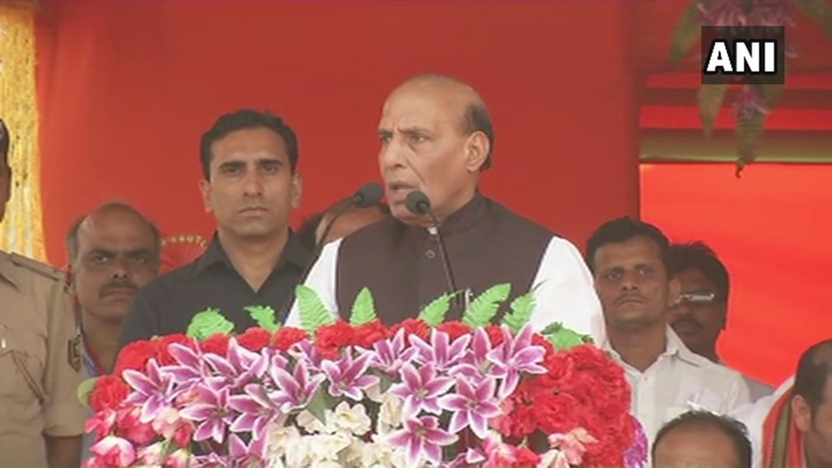Don't divide the nation into Hindus and Muslims. If Chandra Shekhar Azad and Bhagat Singh sacrificed themselves for this nation, Ashfaqulla Khan sacrificed himself for India too: Home Minister Rajnath Singh in Patna (ANI)