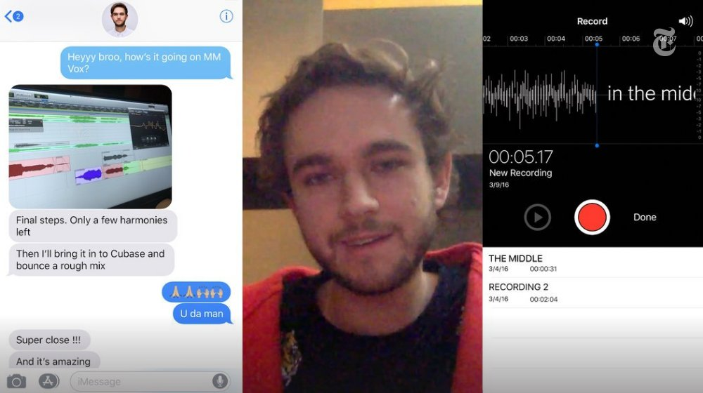 """Using voice memos, demos, texts and interviews, we reconstruct how Zedd, Maren Morris and a 23-year-old songwriter turned a few chords into an enormous hit, """"The Middle"""" https://t.co/xQzjEaaoCK"""