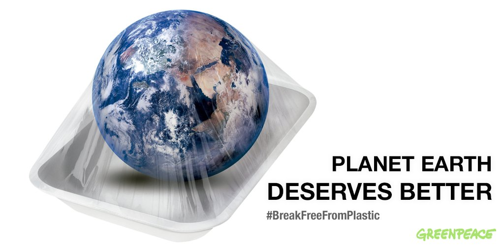 Because no-one wants to live on a plastic planet  >>> https://t.co/9hf4cXxpem  #EarthDay #BreakFreeFromPlastic https://t.co/jJ1BFdvt2R