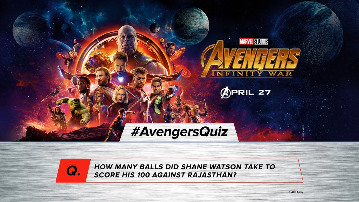 #RajasthanRoyals' bowlers sure would remember this one! What about you? Answer with #AvengersQuiz to stand a chance to take home exclusive @Marvel_India merchandise.