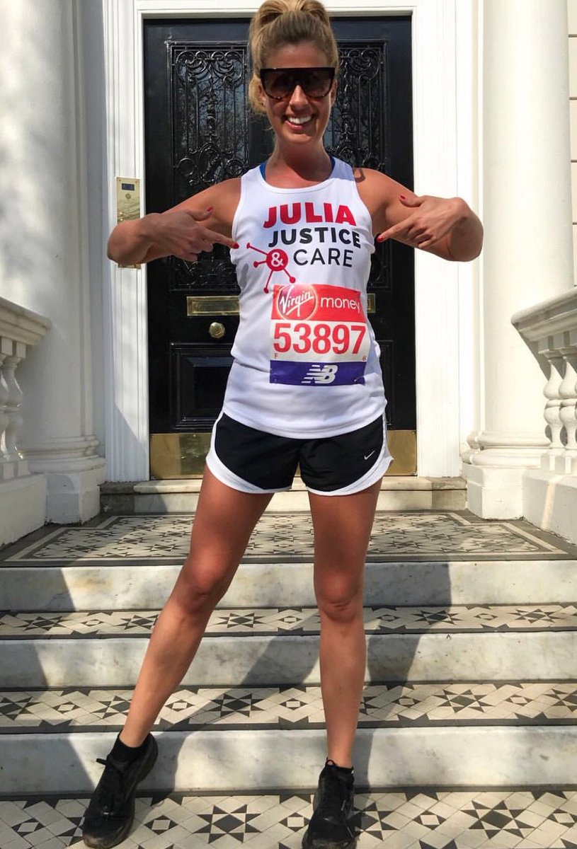 If you see her cheer on this amazing woman @JuliaImmonen She's rowed the Atlantic so this should be a doddle #RunForFreedom for @justiceandcare to end slavery. Please donate via the link: https://t.co/NNRs8uUXrR  #VMLM