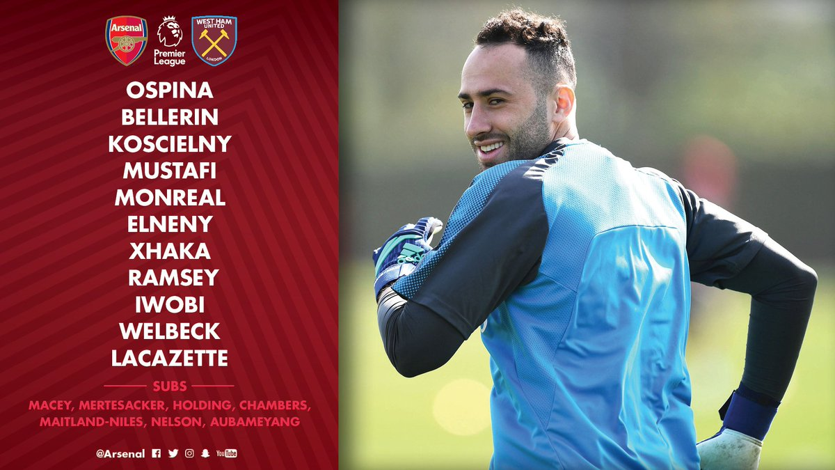📋 Here's how we line up for today's match   #AFCvWHU