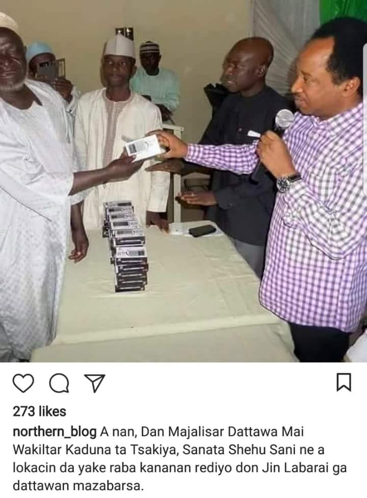@ShehuSani This is one tof the thing the present offers to his district.