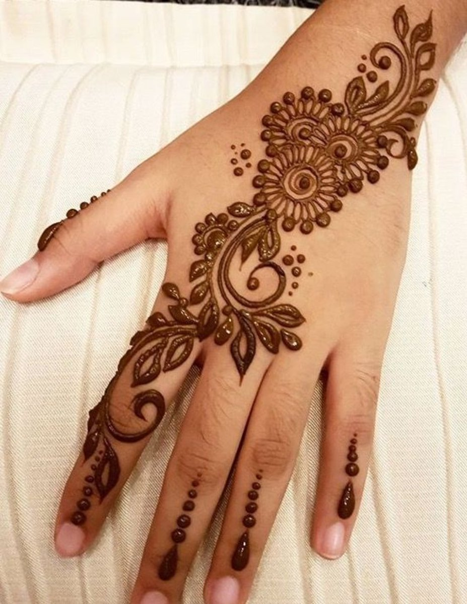 Henna Lovers On Twitter Simple Henna Design For You Hennatattoo