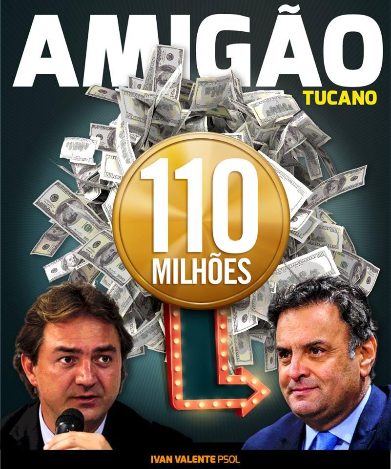 BAITA AMIGÃO DOS TUCANO: Além dos 110 milhões que Aécio recebeu de Joesley Batista, dono da Friboi, o senador do PSDB ainda desfrutava um mesadão de 50 mil reais.