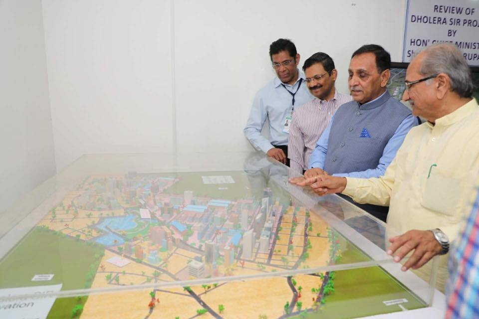 Rupani lays foundation stone for Common Effluent Treatment Plan, Pipali-Dholera pipeline projects
