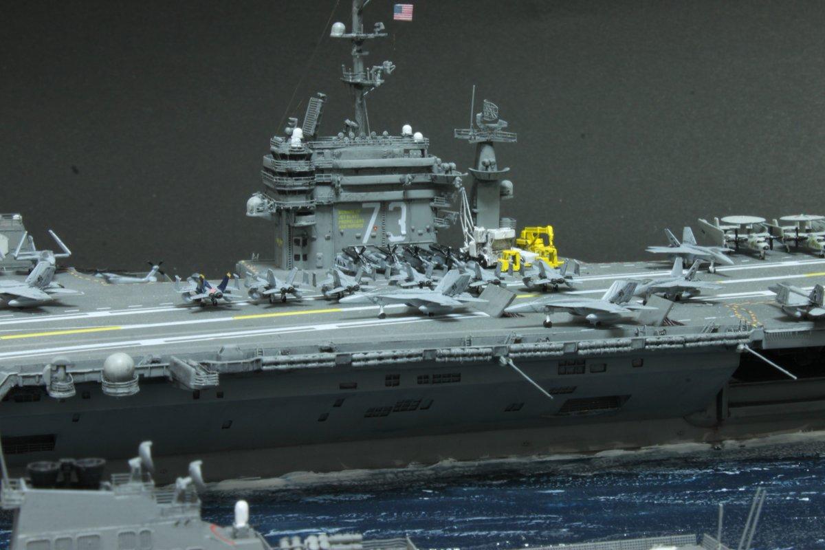 #みなさん去年の今頃はどんな模型作りました ちょうどジョージワシントンの艦載機作ってた・・・・気がする