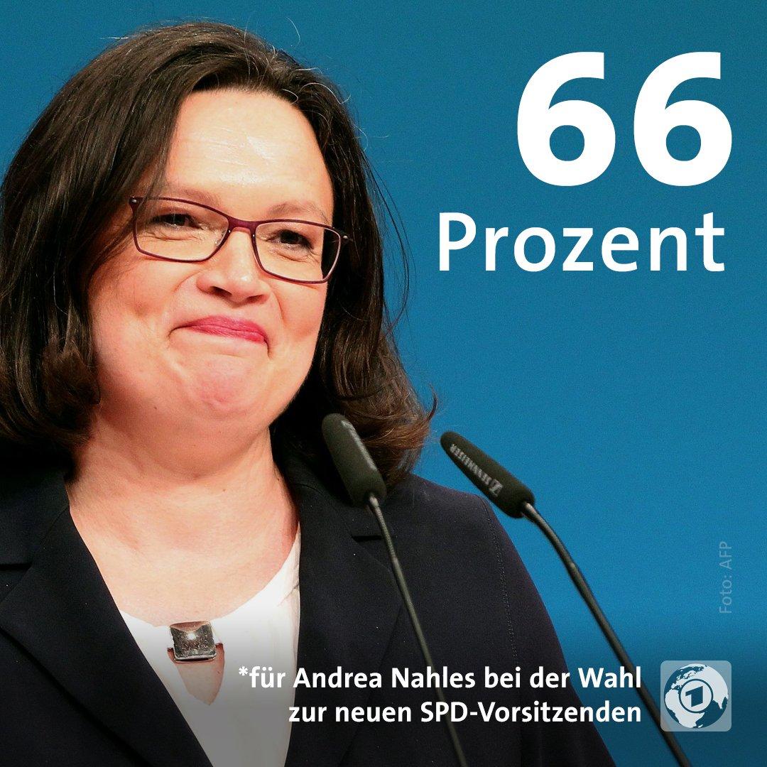 Andrea #Nahles neue #SPD-Chefin. Ihr Wahlergebnis ist so na ja ... https://t.co/DikNOm7iD8 #spdbpt18