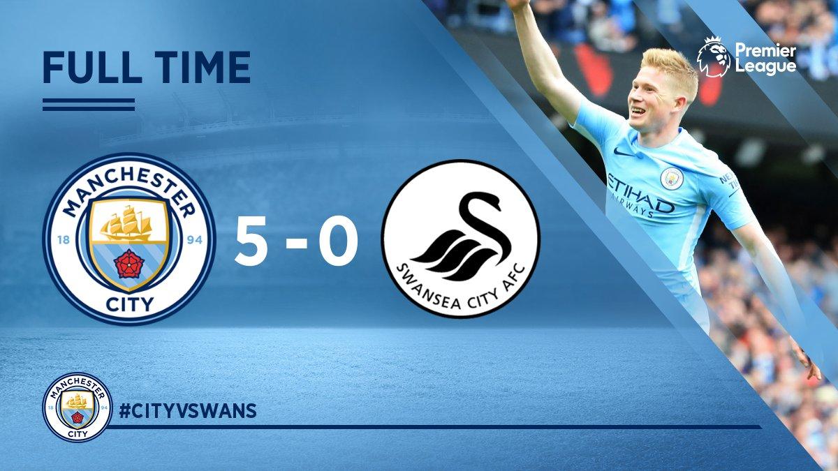 Chấm điểm kết quả Manchester City 5-0 Swansea City