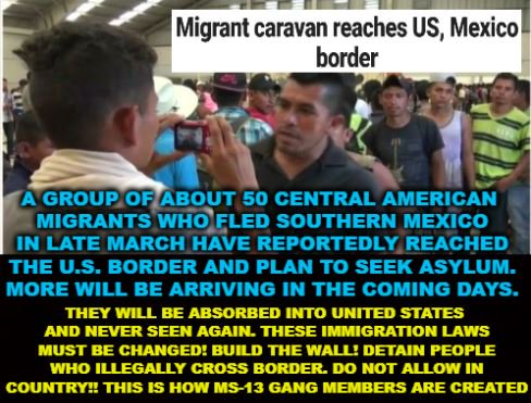 How many will actually show up for immigration hearing court date?:  Migrant caravan reaches US, Mexico border  https://t.co/Ibbw6osfiZ    #SundayMorning #MAGA #Trump #BuildTheWall #FixTheLaw #immigration