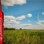 Image for the Tweet beginning: .@Budweiser launched its 100% #RenewableElectricity