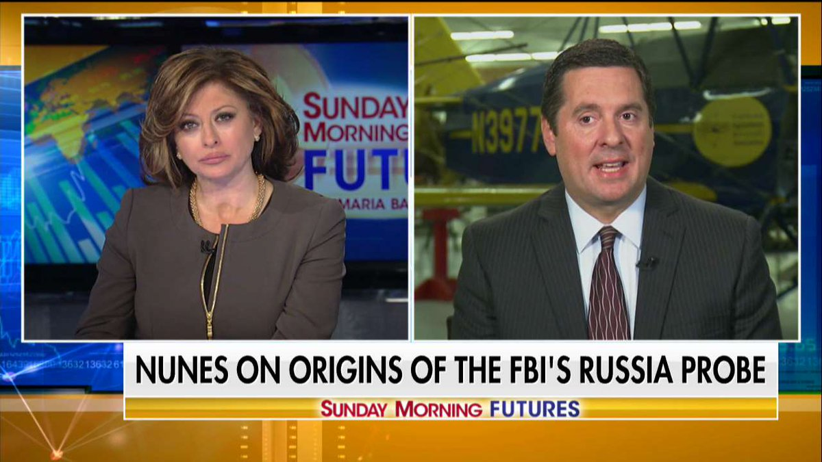 ,@DevinNunes: 'We do know that longtime associates of @HillaryClinton, including Sidney Blumenthal and another person named, I think, Cody Shearer, were actively giving information to the @StateDept that was somehow making its way to the @FBI.' #SundayFutures @MariaBartiromo