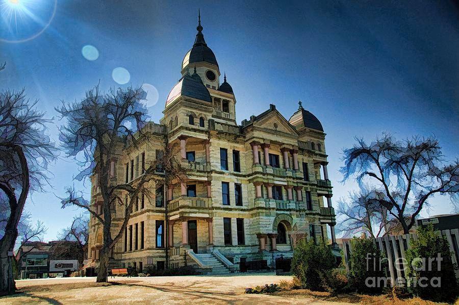 Denton Courthouse #DianaMarySharpton #Denton #Texas #Historic #Architecture #Painted #DigitalArt  https:// buff.ly/2GEnA3J  &nbsp;  <br>http://pic.twitter.com/UaIY7l95aJ