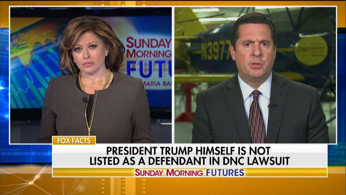 .@DevinNunes: 'The only place where there's a Russia fiasco is with [@TheDemocrats].' #SundayFutures @MariaBartiromo