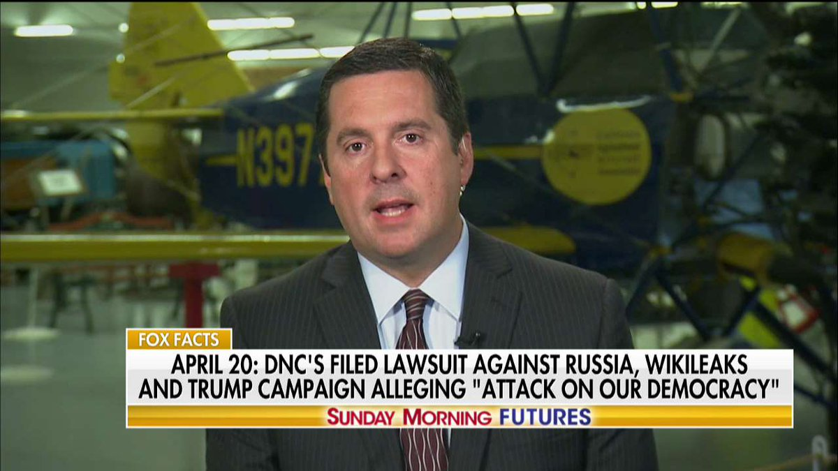 .@DevinNunes: 'Why didn't [the DNC] give their servers to the @FBI?' #SundayFutures @MariaBartiromo