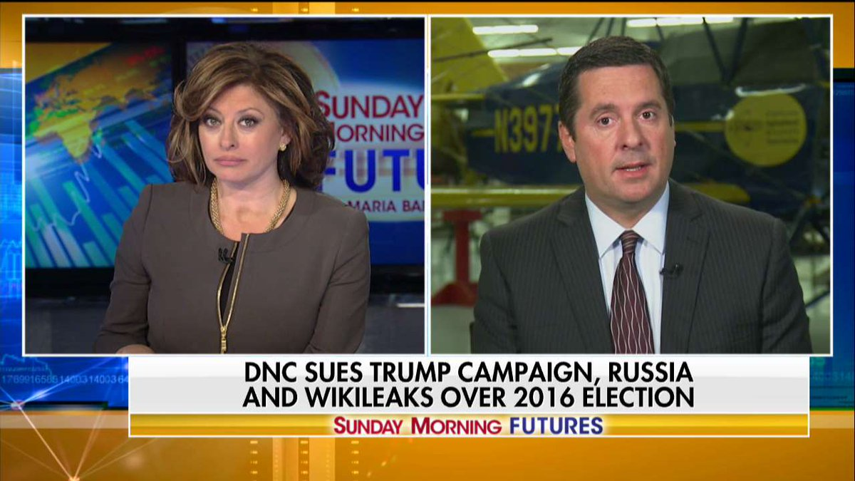 .@DevinNunes: 'There must a reason why [the DNC] didn't want the @FBI to come in.' #SundayFutures @MariaBartiromo