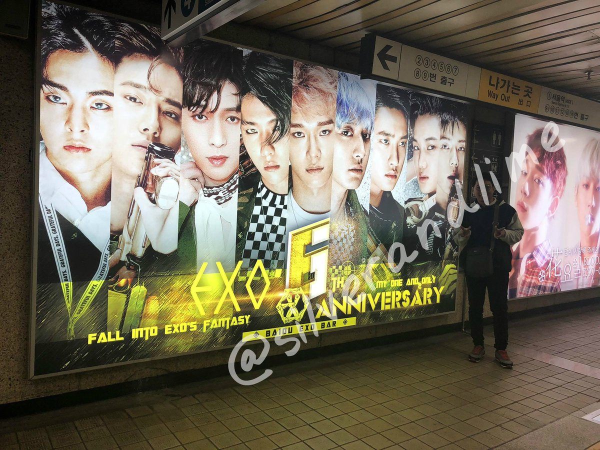I&#39;m a fanboy . And I was able to roam Korea&#39;s subway to visit some ads .  #6yearswithexo #MTVBRKPOPEXO #PremiosMTVMiaw  @weareoneEXO #ElyXiOninManila<br>http://pic.twitter.com/E10fL443qu