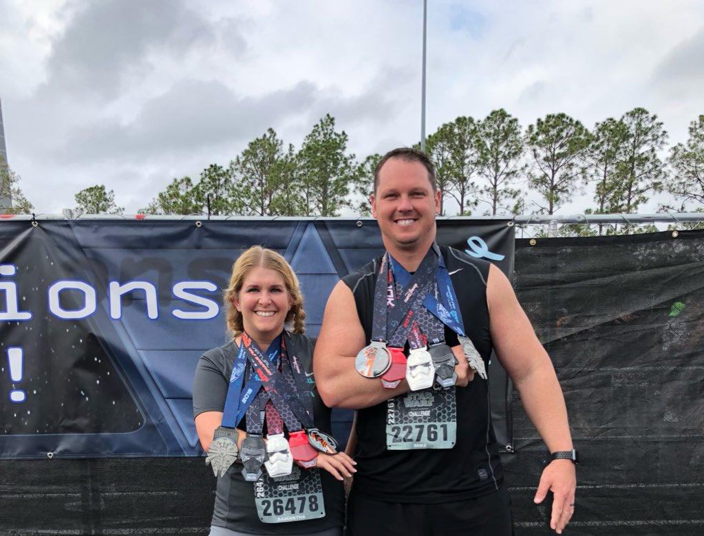 What a fun #StarWarsHalf! I'll take 5 medals in one weekend any day! #teacherrunner <br>http://pic.twitter.com/3OV9DNQIFp