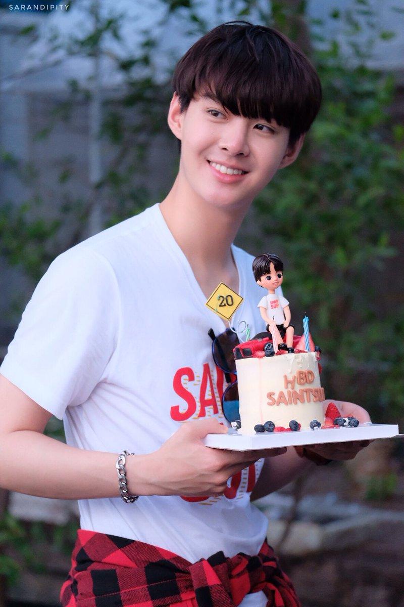 BD Boy with his cake 🎂  ใส่เสื้อเหมือนกั...