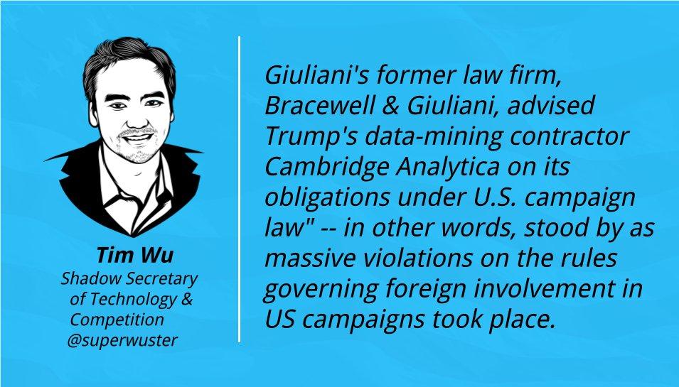 Giuliani seems like the perfect guy to a...