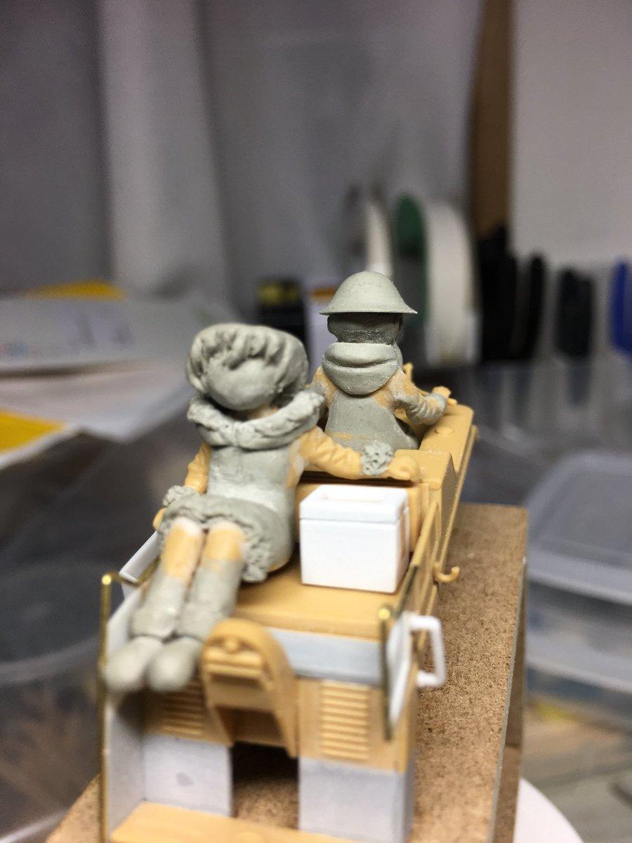 プラッツ 少女終末旅行 ケッテンクラート w/チト&ユーリ フィギュア2体セット プラモデル GLT-01に関する画像5