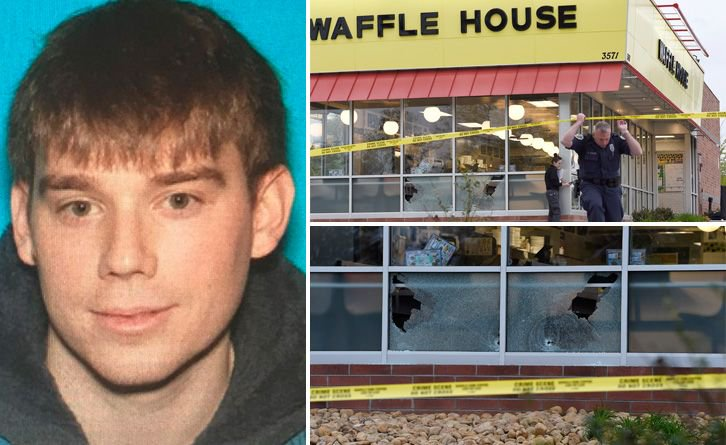 'PULLED UP, GOT OUT OF HIS CAR AND WAS ALL BUSINESS': Naked gunman kills 4 at a Waffle House before a patron wrestles the gun away — and the suspect is still on the loose https://t.co/xPE1w8yQb6