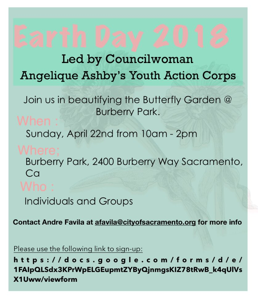 Earth Day 2018 /// Burberry Park /// 10 am-2 pm /// See you soon! https://t.co/6UKvfae4cc