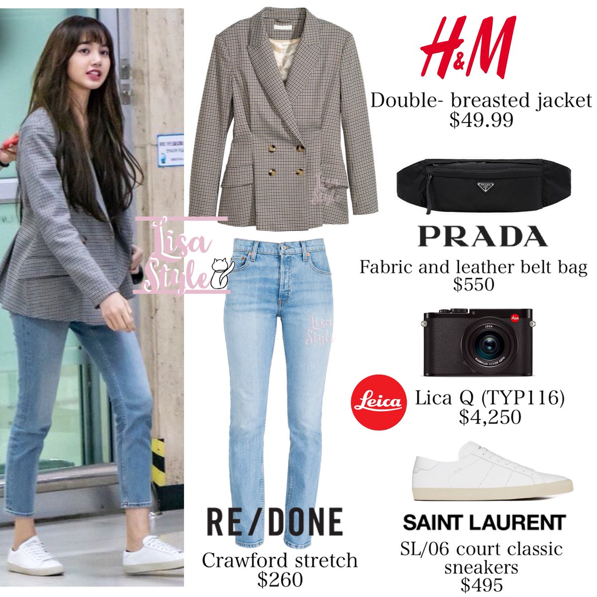 Lisa Style On Twitter 180422 Gmp Airport Blackpink 블랙
