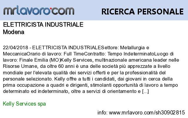Mrlavoro Com On Twitter Nuove Offerte Di Lavoro Modena