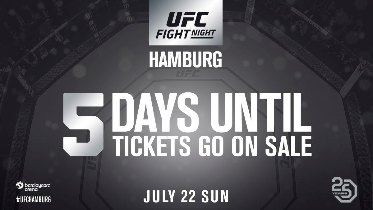 Tickets to #UFCHamburg on sale this Friday!!  ...and we might have your main event announcement tomorrow morning!