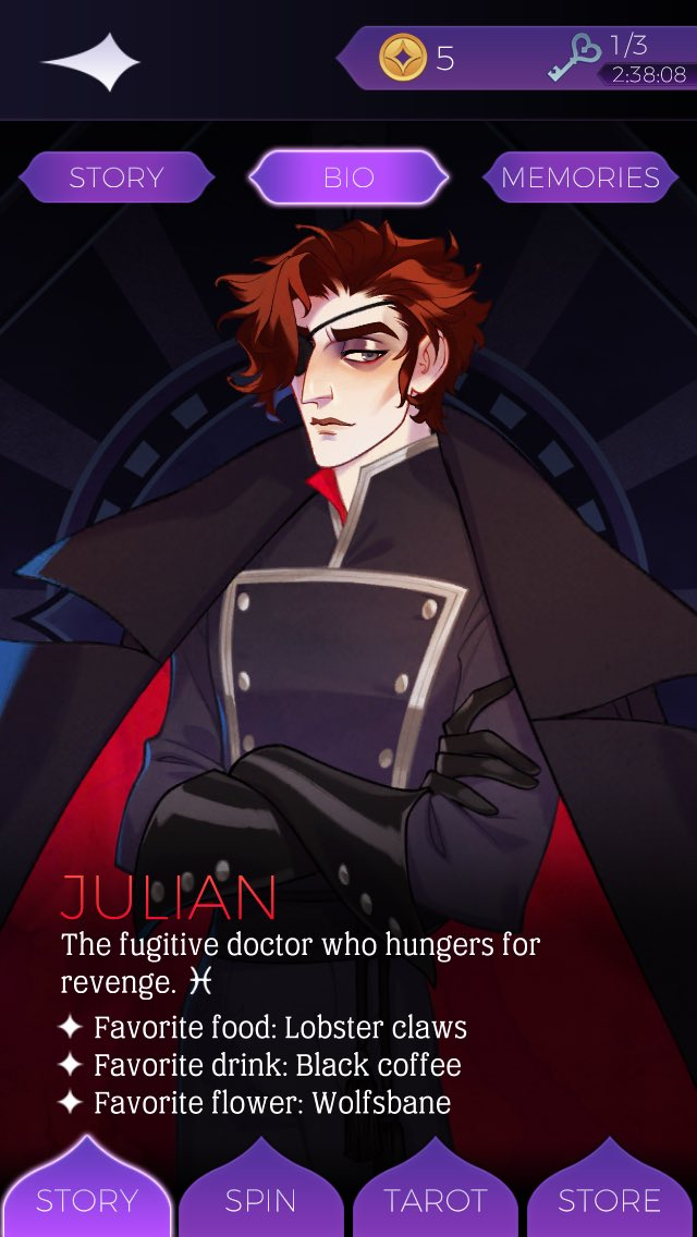 When your only crush is a fictional character in a game. #rip #julianarcana #sexypieceof #allmywantpic.twitter.com/Wzd62VcP6I