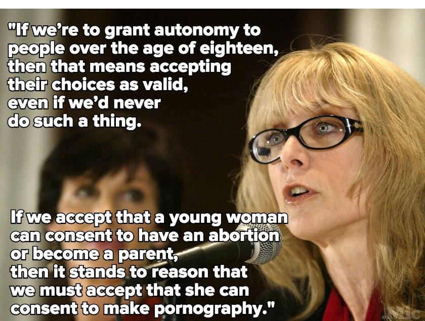 If women can consent to sex, consent to abortion, they...