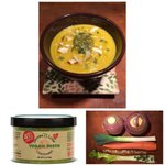 Image for the Tweet beginning: Rutabaga Soup with Sauces 'n