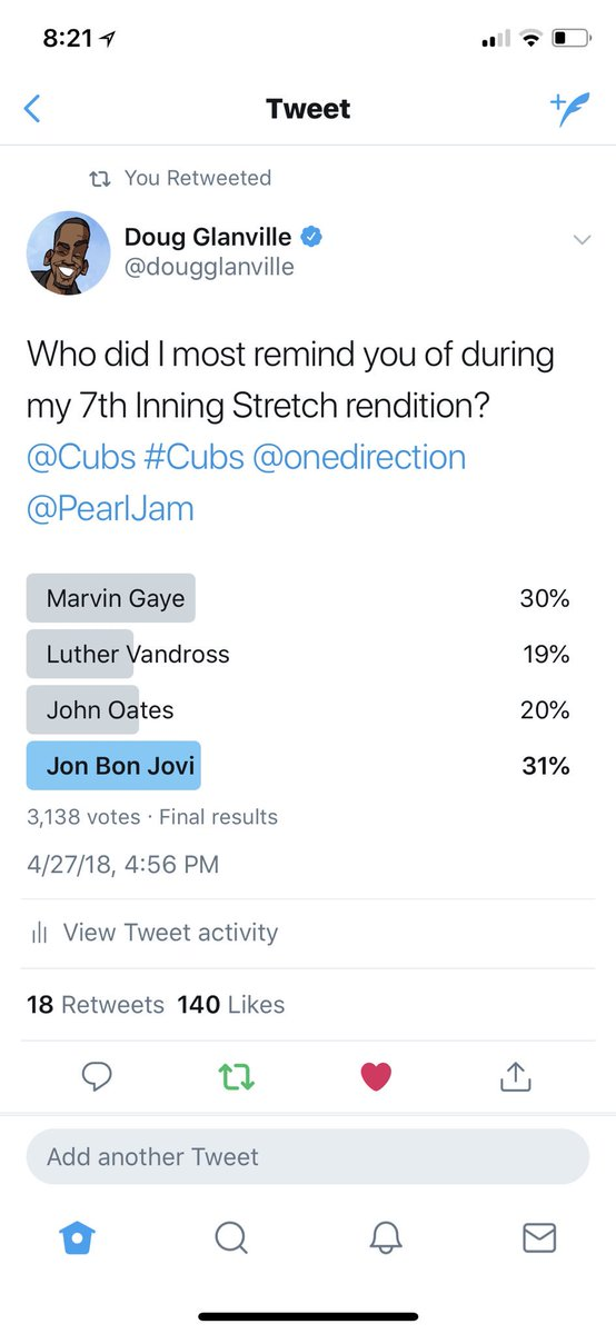 The people have spoken. I am Jon Bon Jovi. @BonJovi @Cubs #Cubs @NBCSCubs