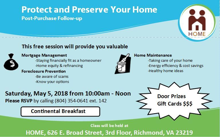 Come To Our Free Protect And Preserve Your Home Session On May 5 From 10 12 You Must RSVP 804 354 0641 X142pictwitter XleQ812Vhl