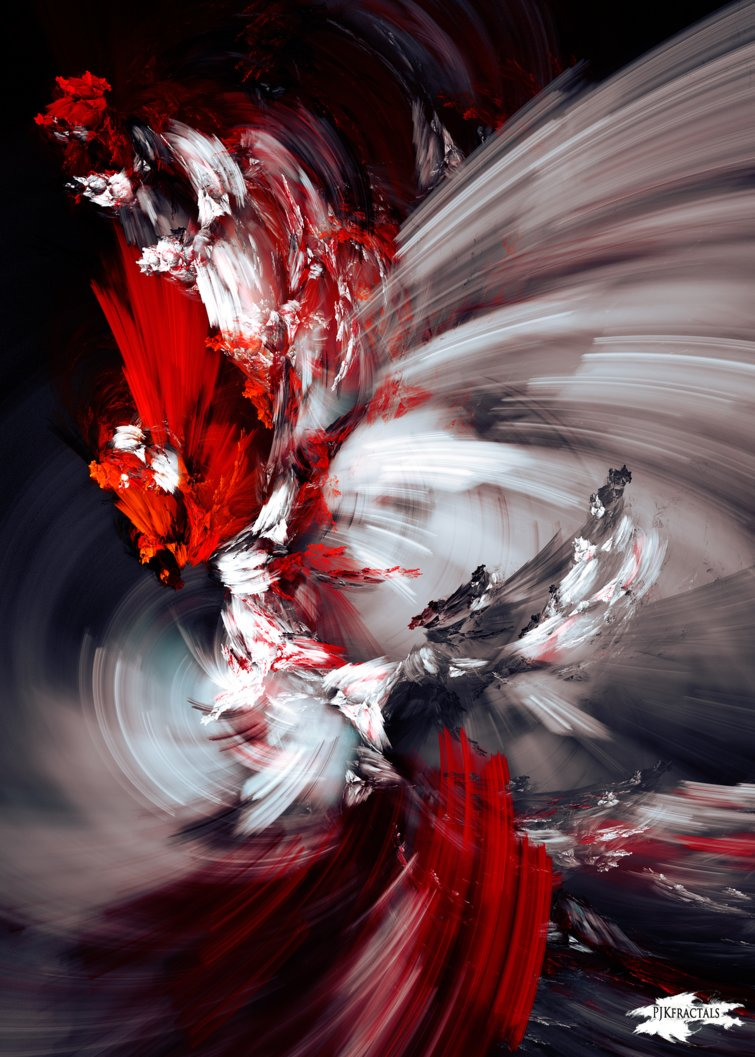 deviantart on twitter describe this abstract art or how it makes