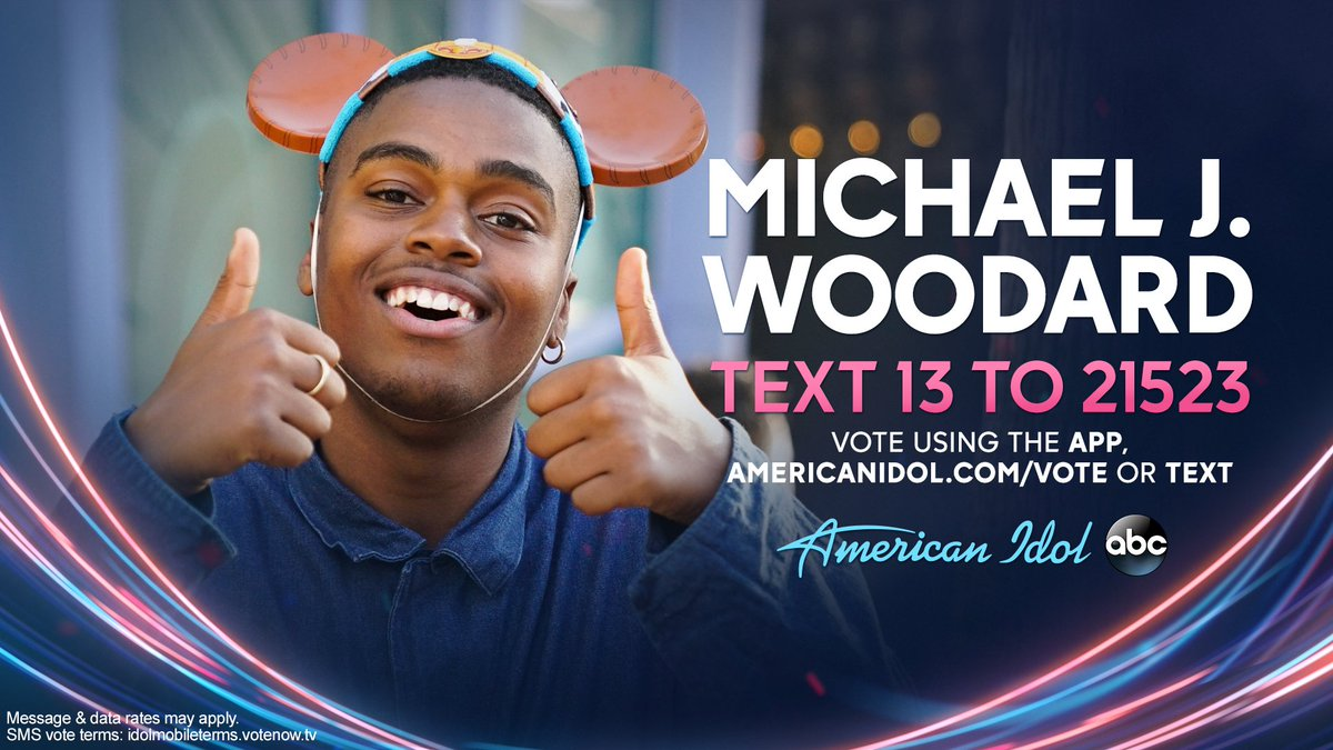 "American idol on twitter: ""to vote for @michaeljwoodard, download."