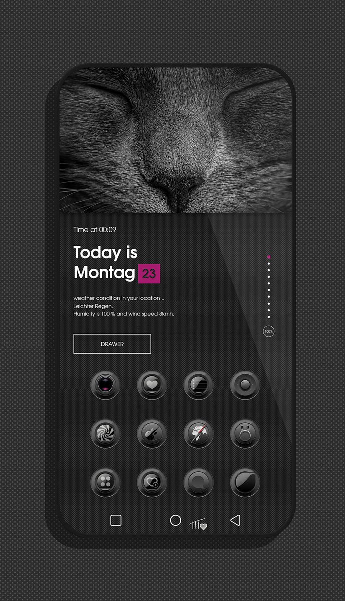 Setup this evening with the great theme #BlackNux by Chris @Chris_Themes  .. thank you again  Widget is Moon KWGT<br>http://pic.twitter.com/Ul1kz44jQy