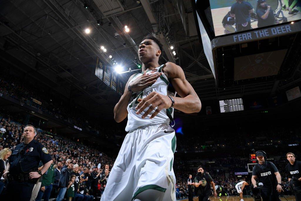 Bucks hold a commanding 16-pt lead over Celtics heading into the half.  Giannis, Middleton & Jabari (35 points)