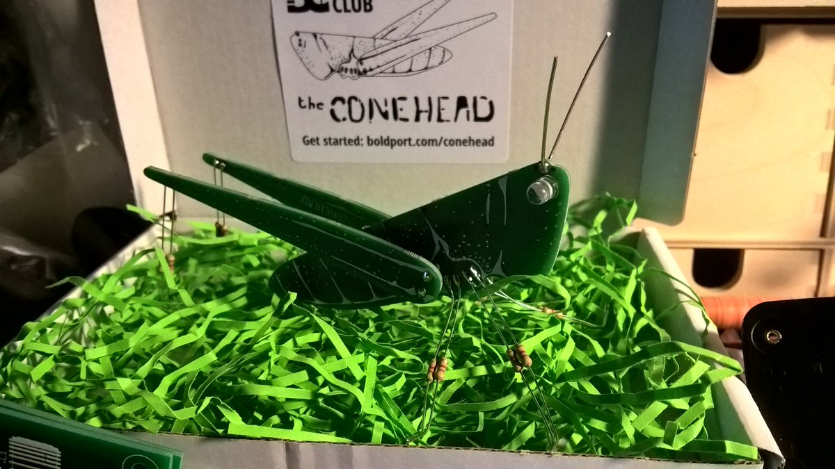 I finally got around to build the #Conehead from #BoldportClub. A cute little noisemaker. 😄 @boldport