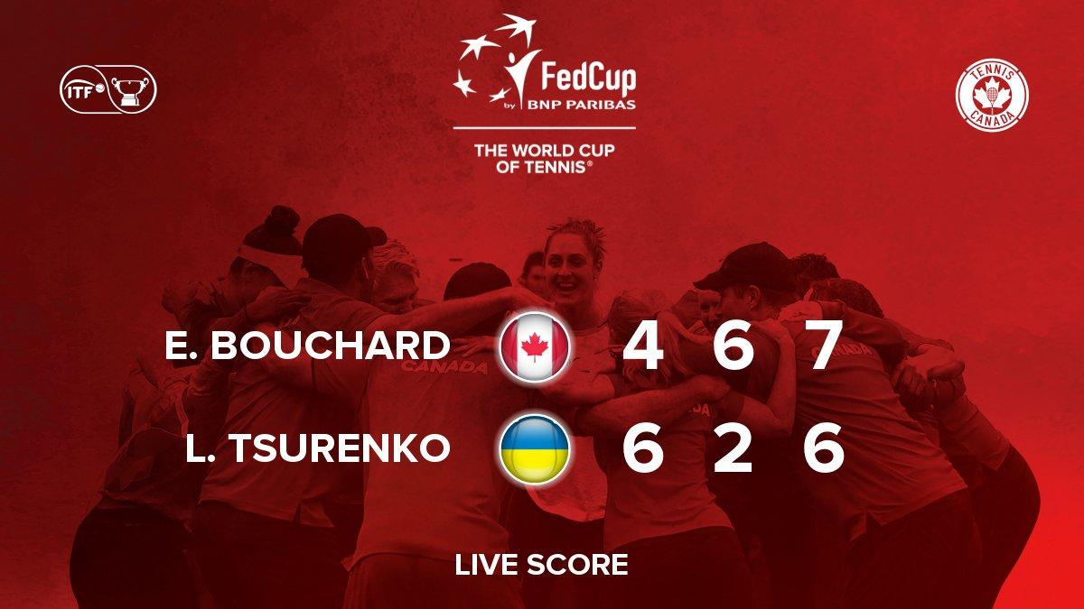 What a battle!! Canada is now one point away from victory ! / Quelle bataille!! Le Canada n'est plus qu'à un point de la victoire ! #GoCanada #FedCup