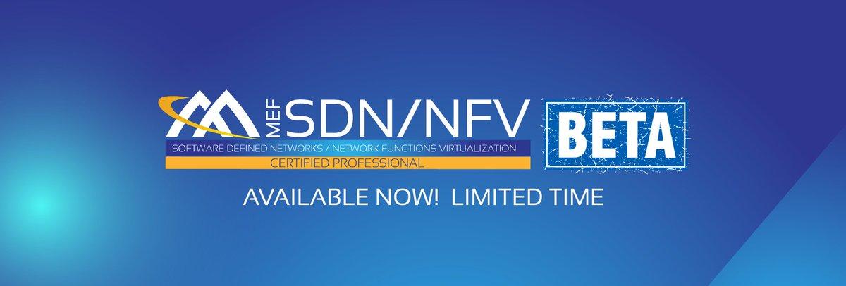 Mef On Twitter Mef Professional Certification Sdnnfv Beta In