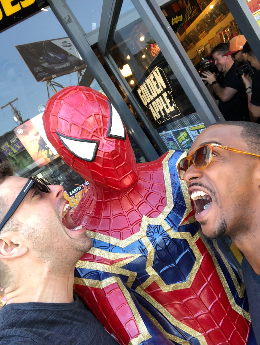 We in yo face Spidey! @TomHolland1996 ht...