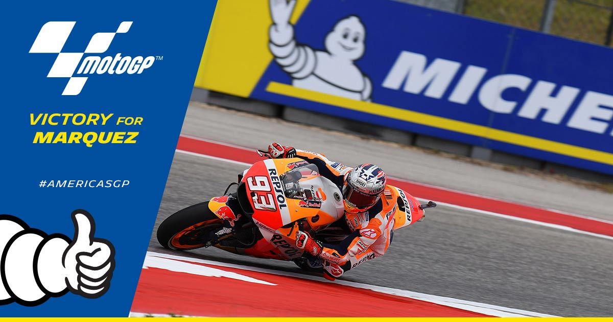 BREAKING NEWS: @marcmarquez93 wins the #...