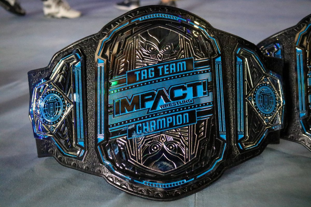 New @IMPACTWRESTLING tag team belts loving their work so far..... more to come #Impact #Redemption #JDalpha<br>http://pic.twitter.com/UwwJsOTQMC