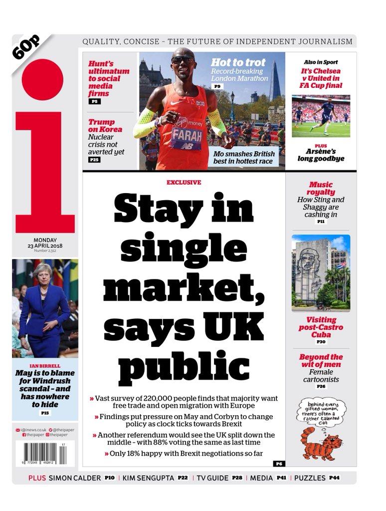 I: stay in single market says UK public...