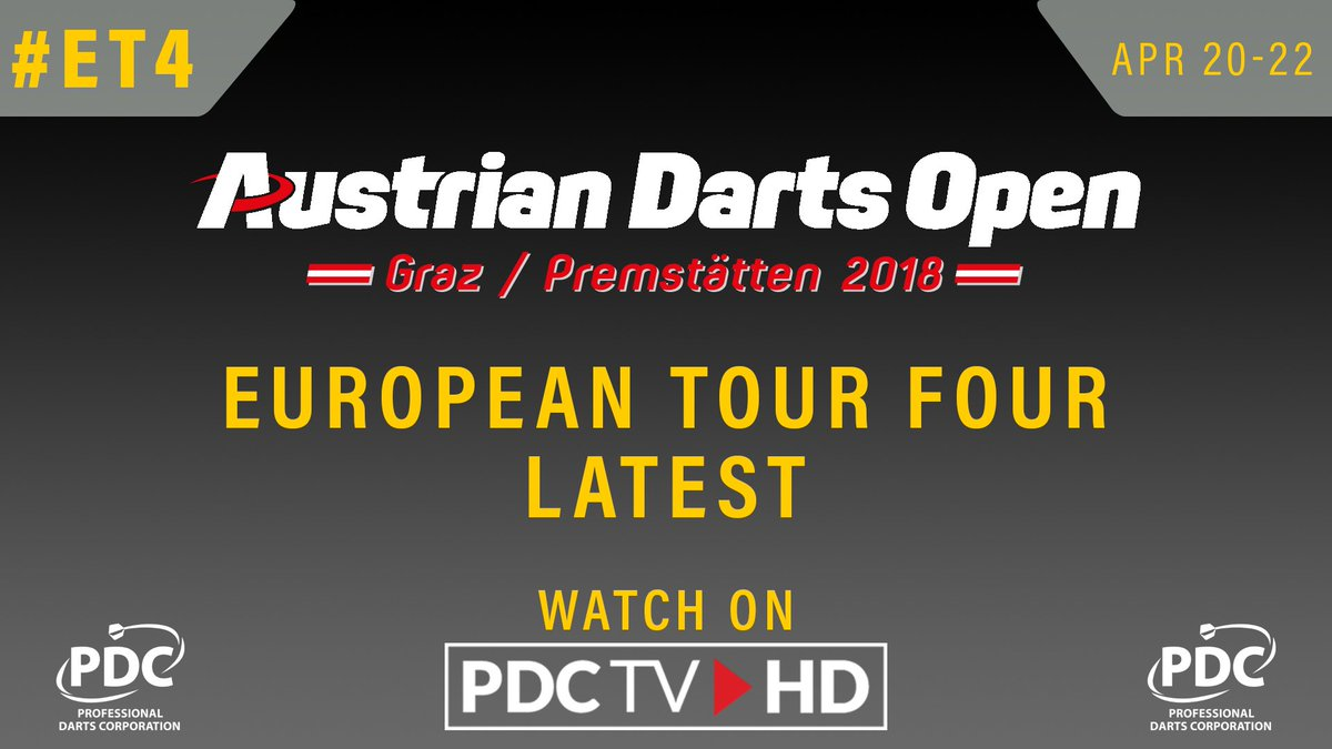 FINAL | Our all-Welsh final at the Austrian Darts Open is now underway as Gerwyn Price plays Jonny Clayton  📺Watch now via @PDCTVHD  ▶️More info: pdc.tv/news/2018/04/2…  #Darts #ET4