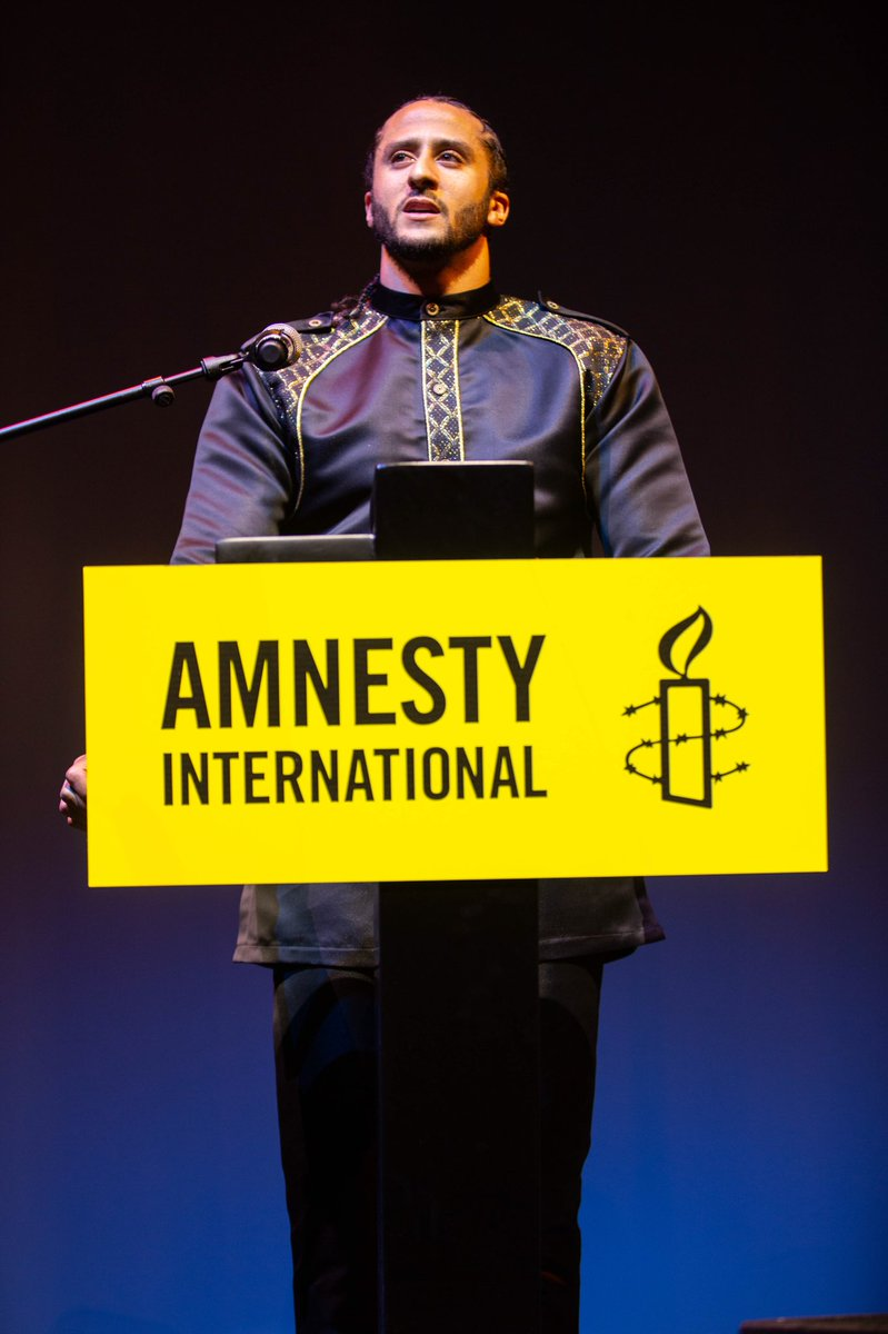 """I would like 2 thank Amnesty International 4 The Ambassador of Conscience Award.But in truth,this is an award that I share with all of the countless people throughout the world combating the human rights violations of police officers."" @AmnestyO@yourrightscampn@RAVisionMedialine"